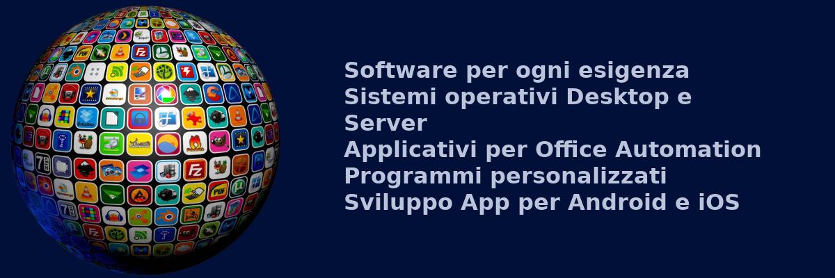Sistemi operativi, applicativi, gestionali, CRM, CMS